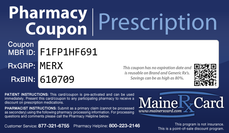 Maine Rx Card - Free Prescription Drug Coupon Card